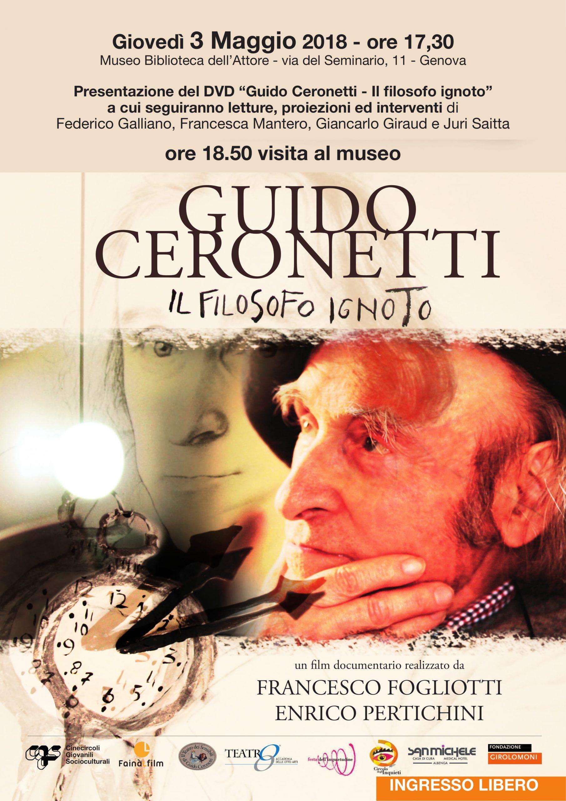 Locandina - Guido Ceronetti
